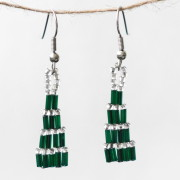 Christmas Tree Beaded Earrings