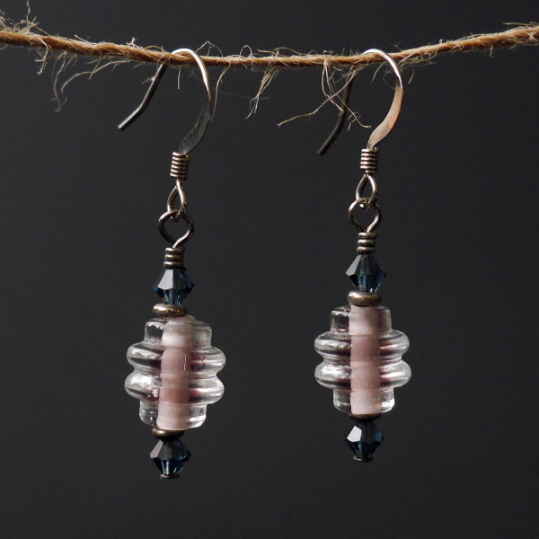 Lilac Glass Beaded Earrings