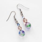 Rainbow Glass Beaded Earrings