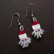Mini Crystal Santa Beaded Earrings