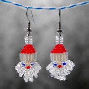 Crystal Santa Beaded Earrings