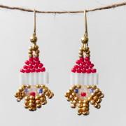 Gilded Santa Beaded Earrings